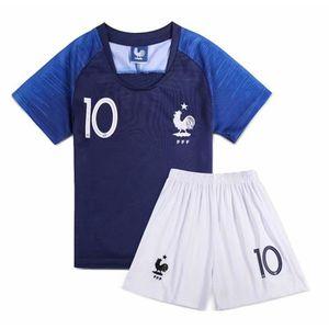 MAILLOT DE FOOTBALL 2018 Coupe du monde Kylian Mbappé NO.10 France-FFF
