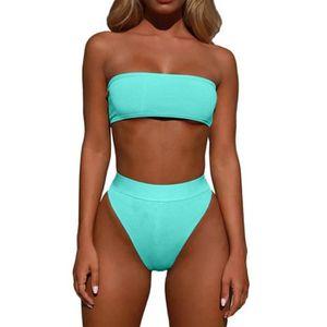 83bc642af9 Maillots de Bain Brésilien Sport Push Up Bikini 2 Pieces Bandage Maillot  Ensemble Bikini Bandeau Maillot de Bain Femme Haut