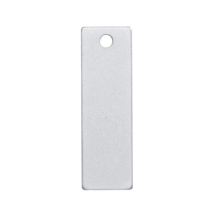 Plaques à graver rectangulaires - 10x32 mm - trou 2,3 mm - En métal - couleur aluminiumSUPPORT BIJOUX - SUPPORT BAGUE - BARRETTE A CHEVEUX - BOUCLE D'OREILLE - BRACELET - BROCHE