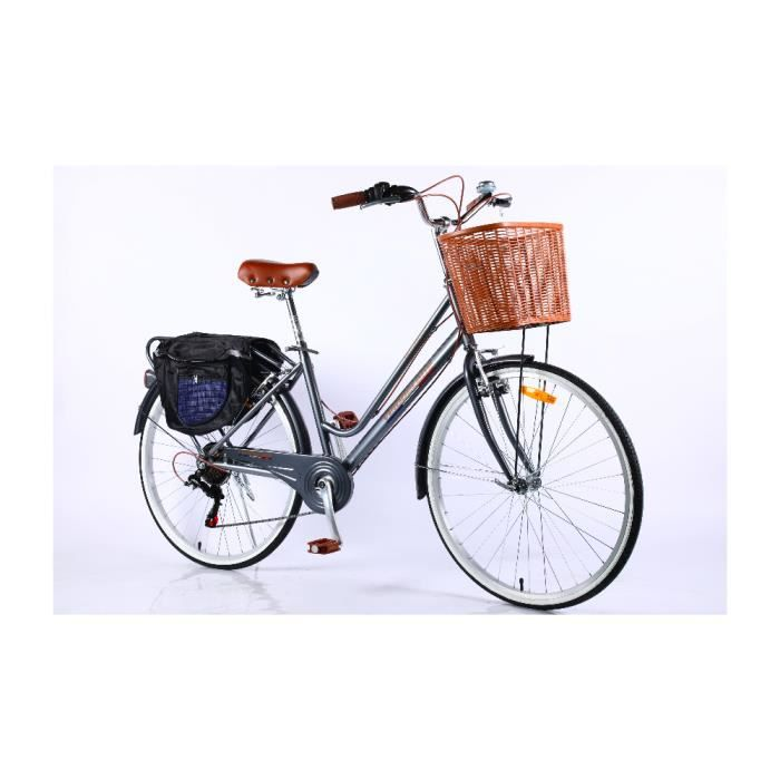 Velobecane Honfleur Vélo de ville Gris