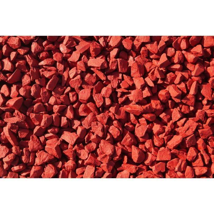 Rockincolour 20kg rouge piment pierre de jardin d achat for Achat cailloux blanc