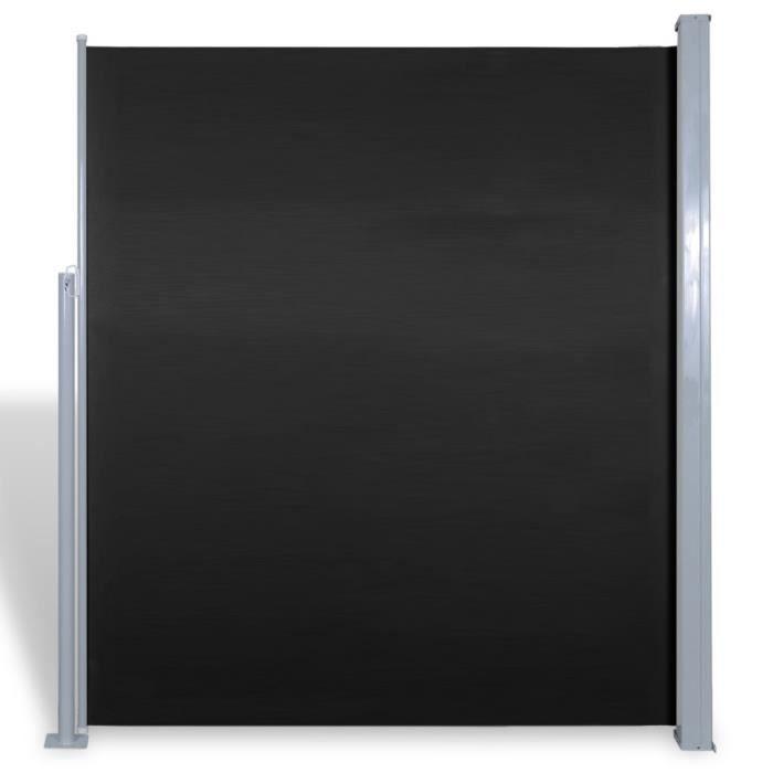 PARAVENT Magnifique Paravent lateral noir 180 x 300 cm