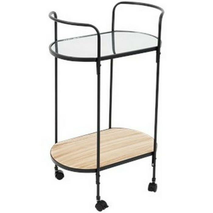 TABLE D'APPOINT DESSERTE SUR ROULETTES DESIGN INDUSTRIEL ORIENTAL