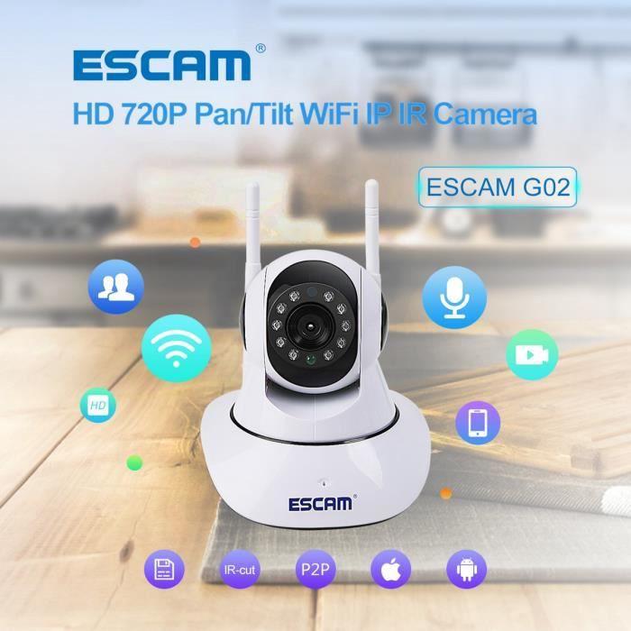 Caméras de Surveillance IR LED IP HD 720p avec Détecteur de Mouvement Wifi  Vision Nocturne - Achat   Vente caméra ip Sricam SP017 720 P Accueil -  Cdiscount 5e862b9e212b