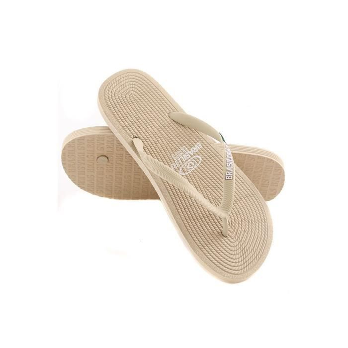 3c1dd15be89476 Tong fashion homme Brasileras ROP Beige 39/40 - Achat / Vente tong ...