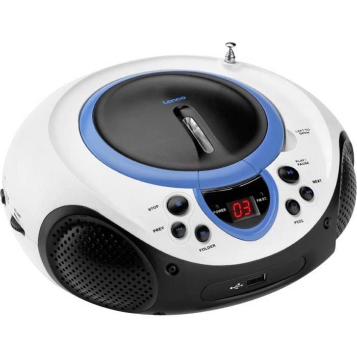 Lecteur Radio-cd Fm Scd-38 Usb Bleu