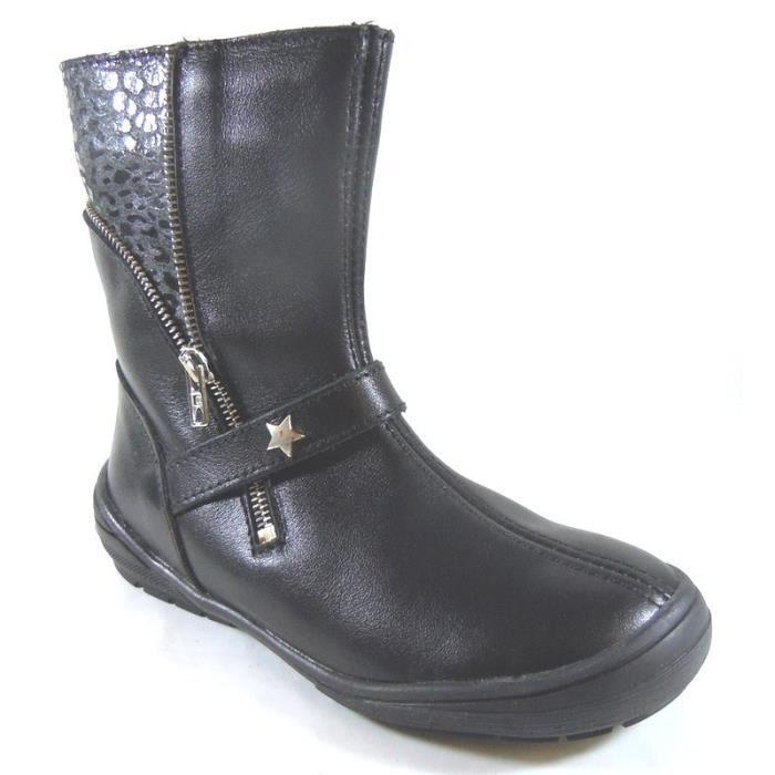 Bottes Bopy Noir Scafia à Etoile (34 - Médium - noir)