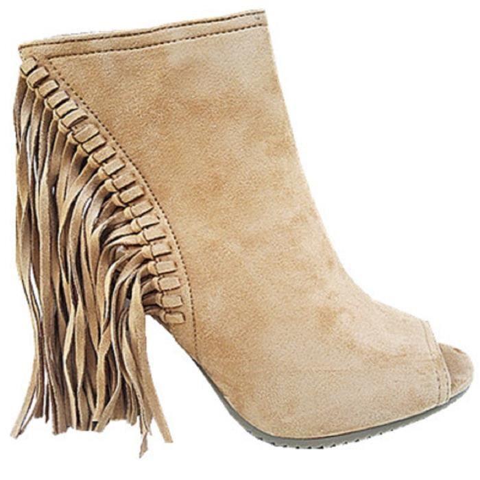 Camel A Femme Fashionfolie888 Talon Chaussure Franges Bloc Bout Compensée C170 Haut Ouverte Sandales O8kXnwP0