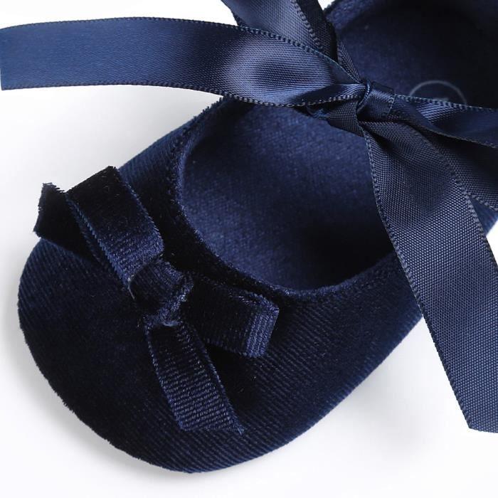 BOTTE Bébé Toddler filles crèche chaussures princesse fleur doux Prewalker chaussures à semelle souple@BleuHM s9qbRE8dRM