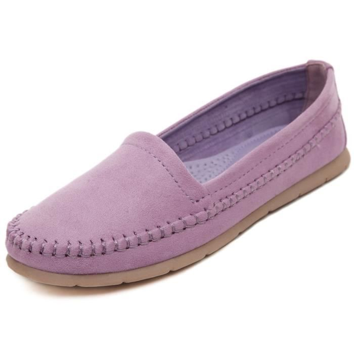 1 Taille Sneaker Chaussures amp; 2 Premier Moccasin Flat Mocassins Mid0v Mules Fermeture Casual 36 Lace Colorful Velvet Mode 7q8wXax68