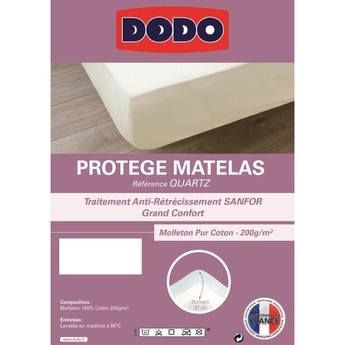DODO Protège Matelas QUARTZ 140x190cm Forme Housse