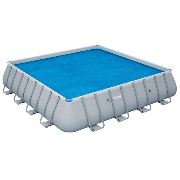 BESTWAY Bâche solaire pour Power Steel Frame Pools carrée 488x488x122cm - 458x458cm