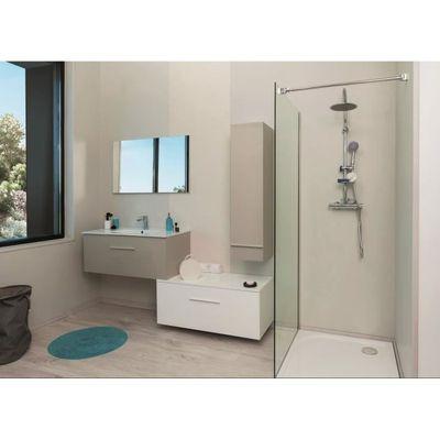 TERRY Meuble haut de salle de bain 90cm - Taupe et gris - Achat ...