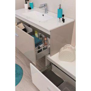Meuble salle de bain couleur taupe - Achat / Vente Meuble salle de ...