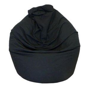 POUF - POIRE Poire pouf en coton LANA Ø75x110 cm noir