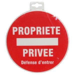 Panneau Propriété Privée Défense d'Entrer