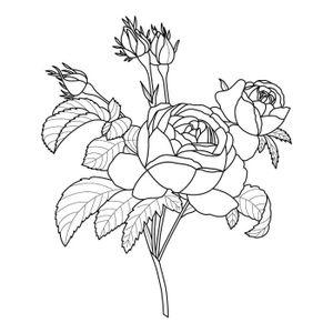 EPONGE - TAMPON Tampon en bois Secret Garden Roses 5 x 6 cm - Arté