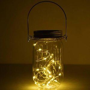 BANDE - RUBAN LED Solaire solaire Mason Jar Couvercle Insérez Lumièr