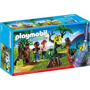 FIGURINE - PERSONNAGE PLAYMOBIL 6891 - Summer Fun - Enfants avec Végétat