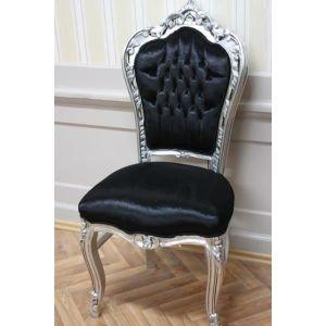 chaise chaise baroque largent largent en battant tis - Chaise Baroque
