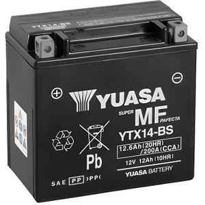 BATTERIE VÉHICULE Batterie YUASA YTX14-BS sans entretien livrée avec