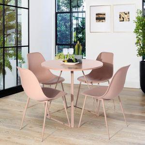 TABLE À MANGER COMPLÈTE Ensemble de Chaise de Table à manger Lot de 4 Chai