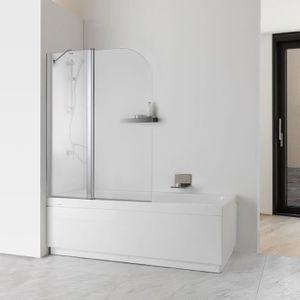 porte de douche porte double pour bain transparent 6mm jade modle - Douche Italienne Dimension1752