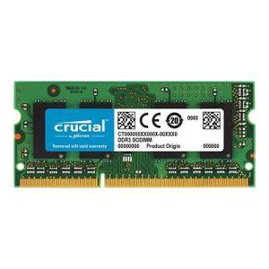 MÉMOIRE RAM CRUCIAL - Mémoire PC - SODIMM 4Go DDR3-1600