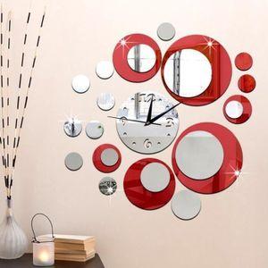 OBJET DÉCORATION MURALE Horloge Murale DIY 3D Digital moderne Décoratif Dé