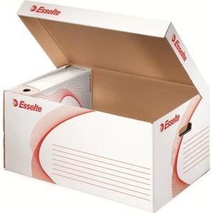Boîte à archive ESSELTE Container + 6 Boîtes Archives 80 mm Blanc