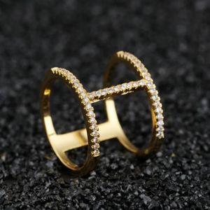 BAGUE - ANNEAU BG1061 Bague femme diamant double couche  taille9-