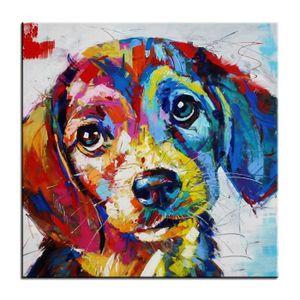 tableaux peinture sur toile chien achat vente pas cher. Black Bedroom Furniture Sets. Home Design Ideas