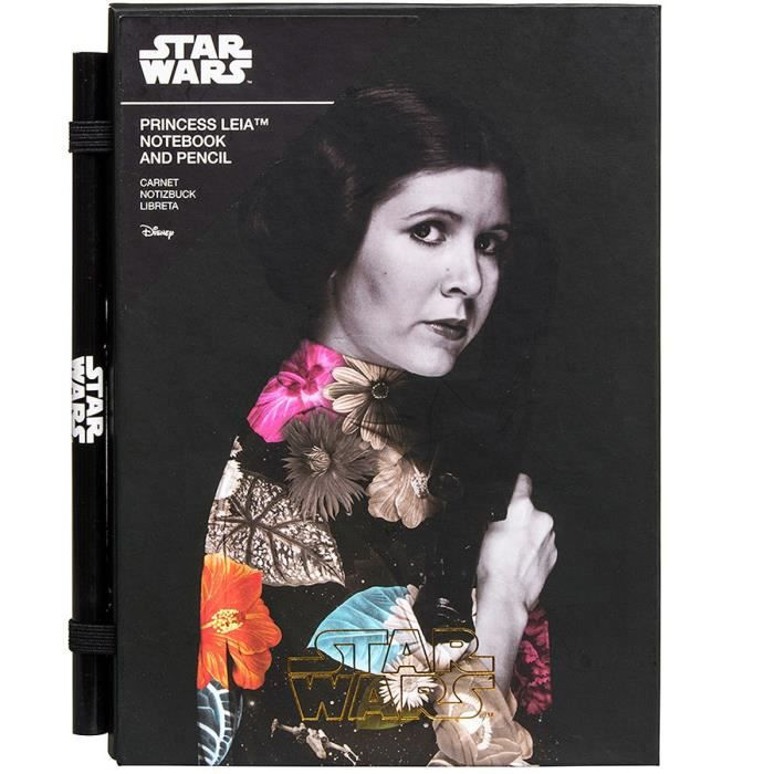 Set cahier + crayon Star Wars: Princess Leia. Cahier format A5.PACK PAPIER - CAHIER - CARNET