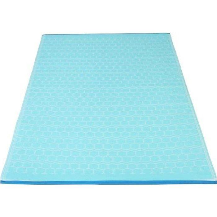100% polypropylène recyclé - Biais polyester - Traitement anti UV - BleuTAPIS - DESSOUS DE TAPIS