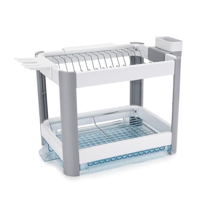 MINKY Egouttoir à vaisselle Extending Dish rack 2 niveaux