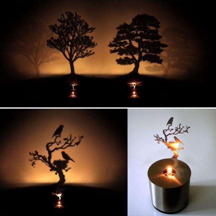 Projecteur Led Ombre Lampe Light68 Lumière Projection Nuit De Bougie oQCErxdBWe