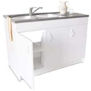 meuble sous evier progres neova 3 portes 140x60cm achat. Black Bedroom Furniture Sets. Home Design Ideas