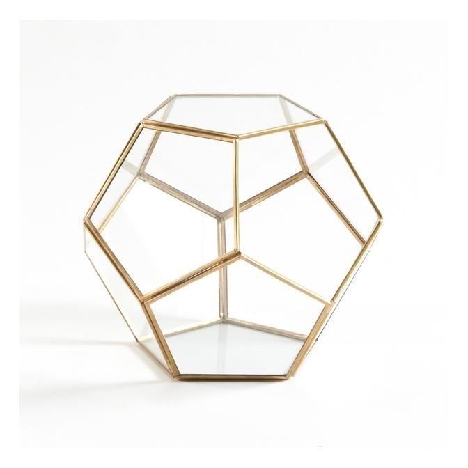 Terrarium en verre et métal, Uyova objet déco maison moderne ...