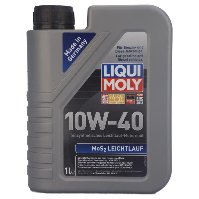 HUILE MOTEUR Huile moteur Liqui Moly MoS2 LEICHTLAUF 10W-40  1