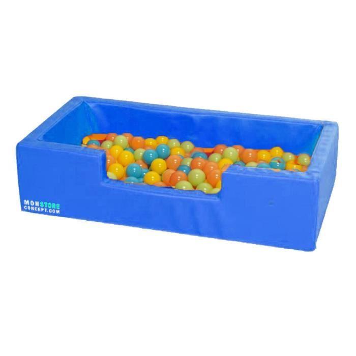 Mini piscine balles 100 x 50 x 25 couleur bleu achat for Piscine a boule en mousse