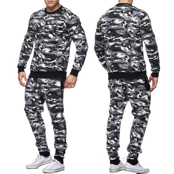 Survêtement militaire homme Sweat et jogging 661 noir Blanc Noir ... 75e28de0c84