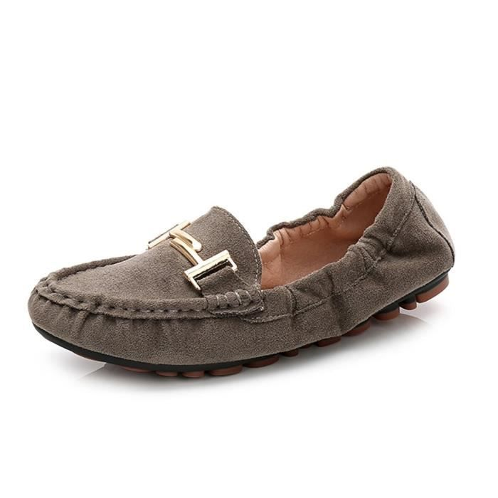 Womens Casual Mocassins Driving Mocassins Slip On Chaussures plates G0JZO Taille-40