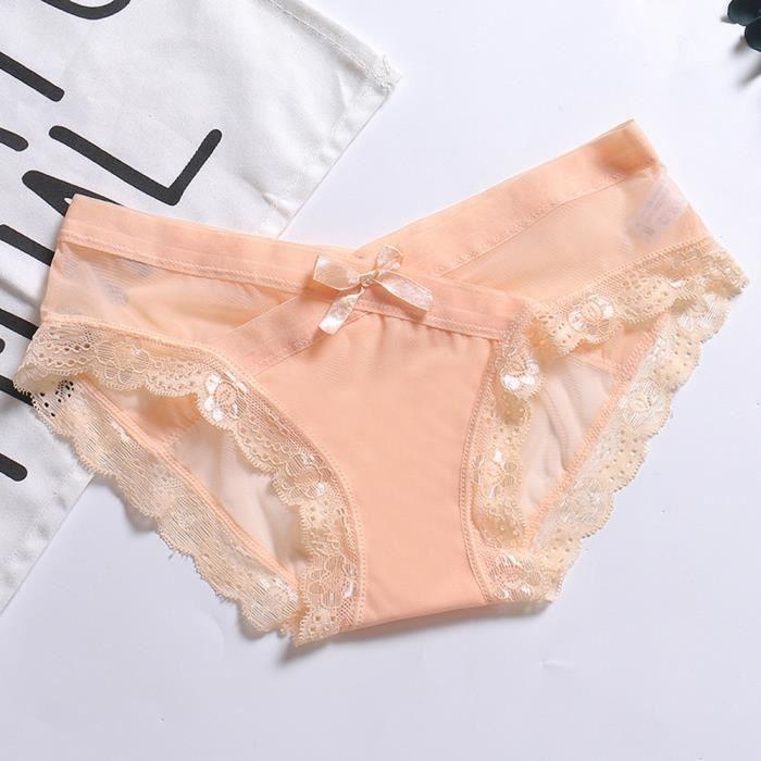 Seasondu Thongs Mignon Sous Lingerie Lettre Femmes Couture Sans Culottes vêtements Slips EDIYHW92