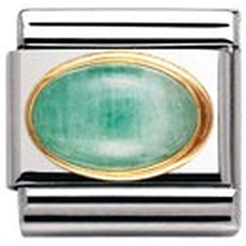 Nomination 030504 - Maillon Pour Bracelet Composable Mixte - Acier Inoxydable Et Or Jaune 18 Cts QM3PI