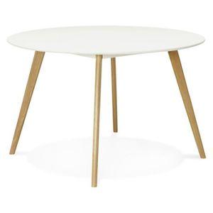 Table ronde scandinave achat vente pas cher - Pied bois oblique ...