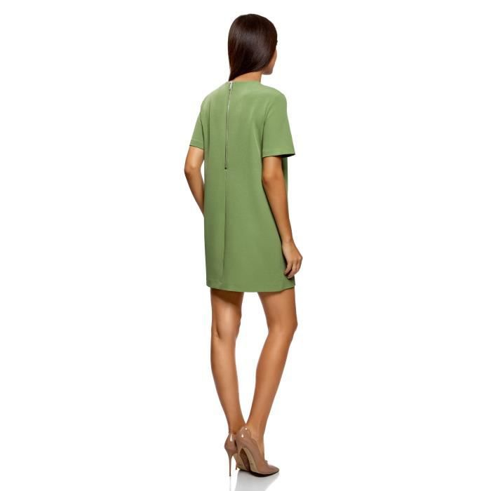 Womens Dress In Heavyweight Fabric With Back Zipper 2T8W0O Taille-40