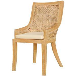 Chaise rotin blanc achat vente chaise rotin blanc pas for Chaise salle a manger rotin