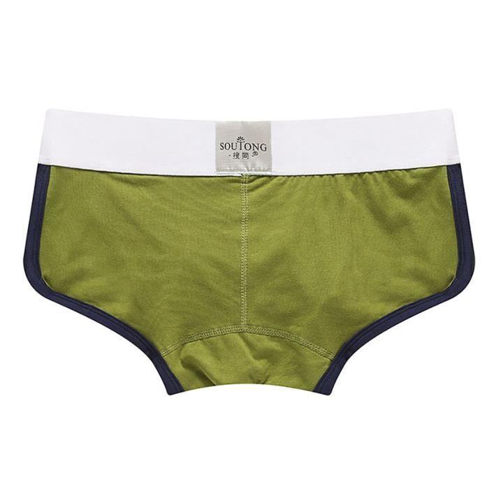 Seasondu Briefs Imprimer Bulge Shorts Pouch Transparent Bobette Hommes Sous vêtements Boxer xrqRTS