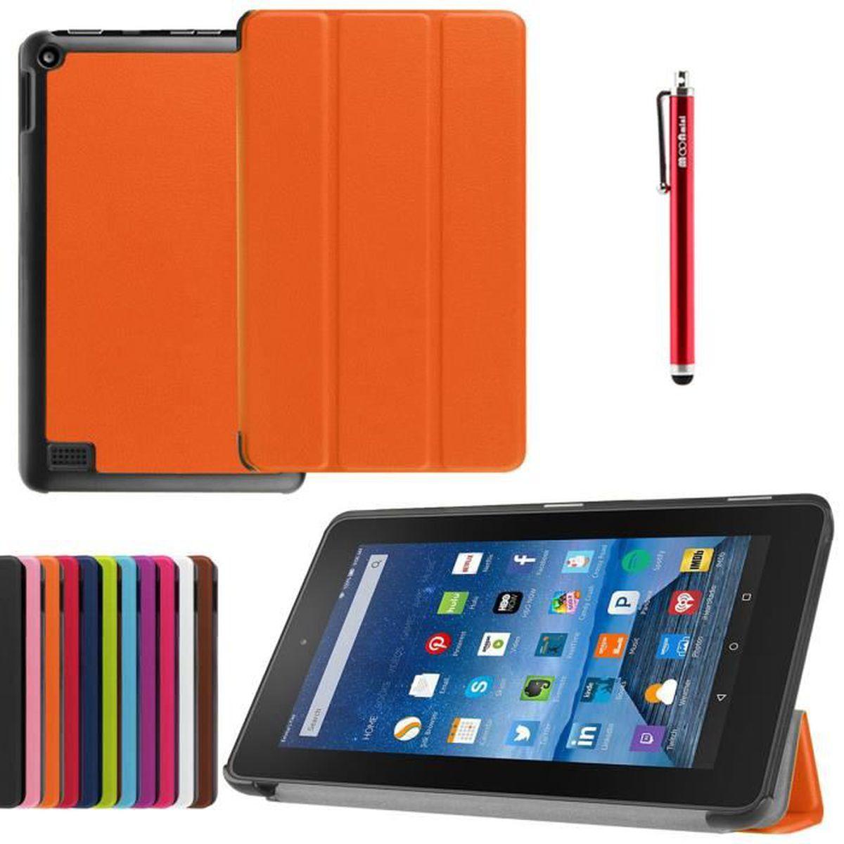 nouvelle collection 100% de satisfaction style le plus récent Housse Etui Amazon Kindle Fire HD 7 (Orange),JWmall® Housse ...