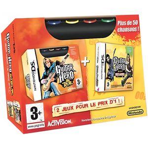 JEU DS - DSI DOUBLE PACK GUITAR HERO / Jeu console DS